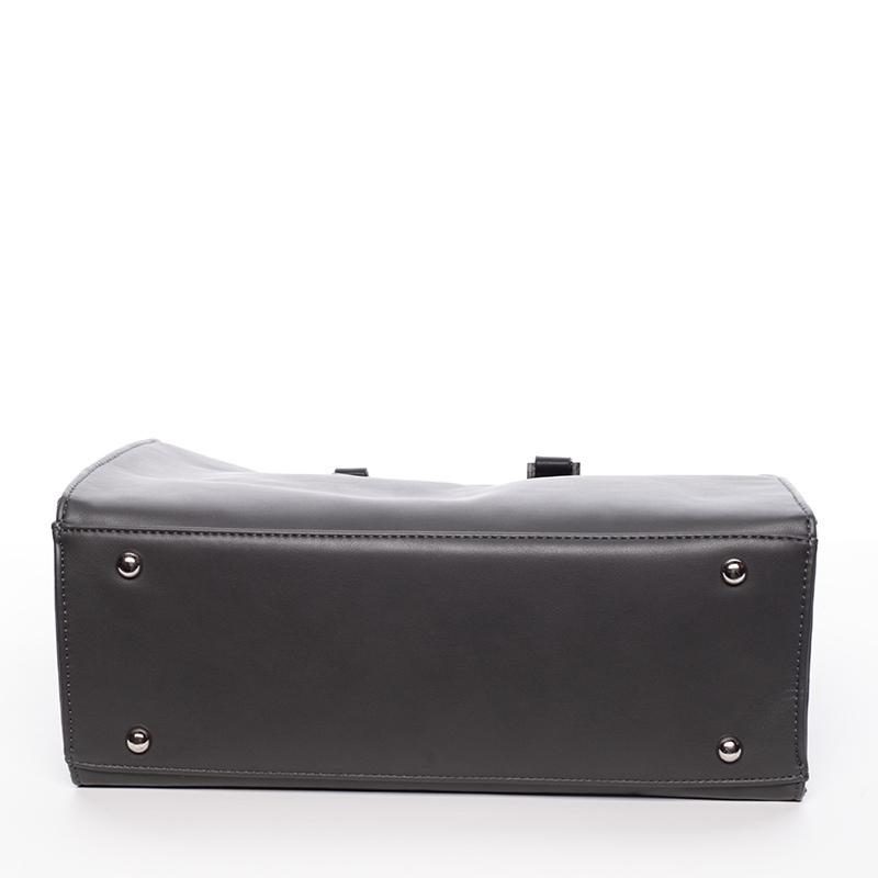 Elegantnní značková kabelka do ruky David Jones Saint Cloud, šedá