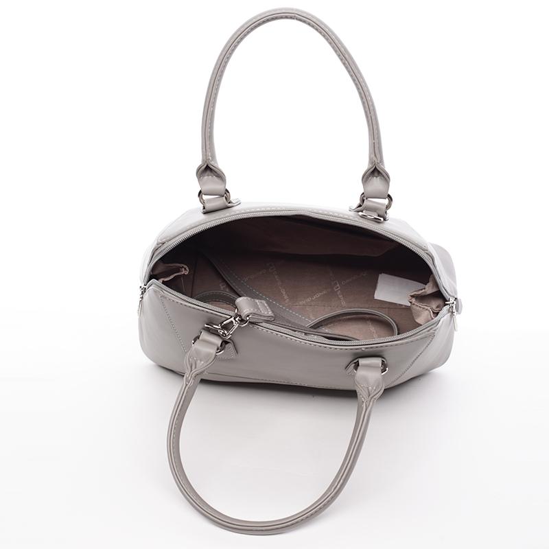 Luxusní dámská značková kabelka David Jones Patrice, šedá