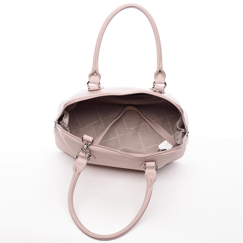 Luxusní dámská značková kabelka David Jones Patrice, růžová