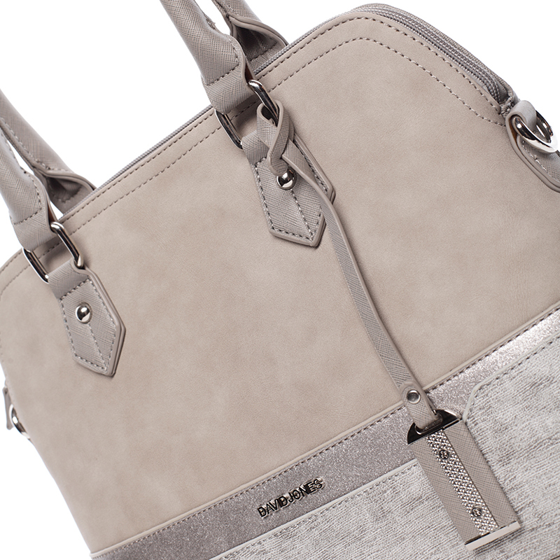 Dámská designová kabelka do ruky David Jones Janis, šedá