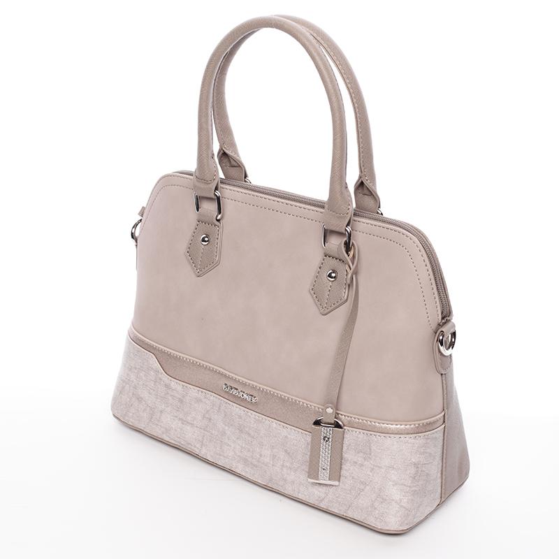 Dámská designová kabelka do ruky David Jones Janis, camel