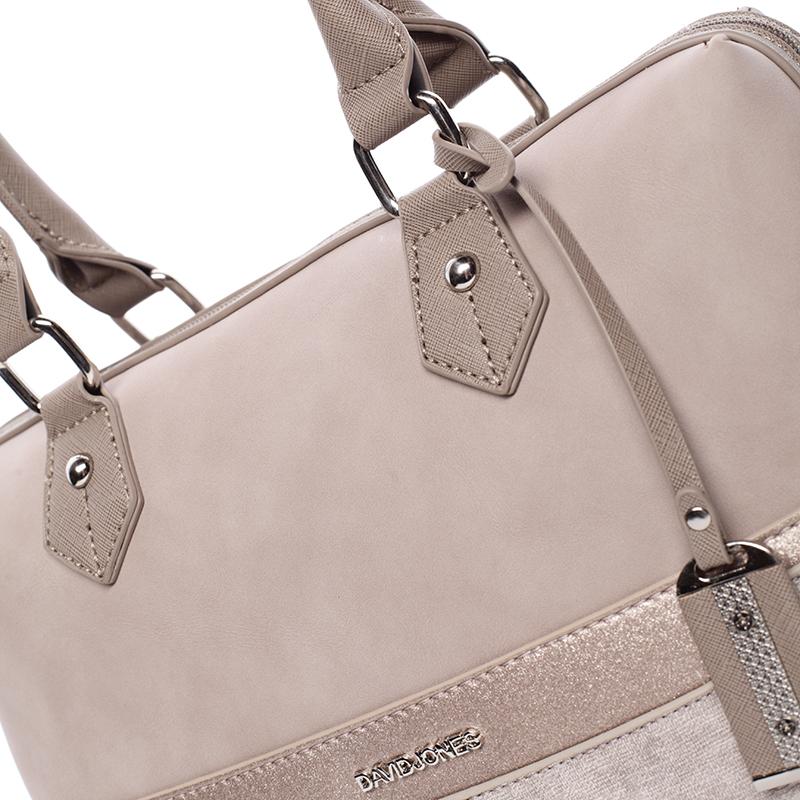 Designová kabelka do ruky i přes rameno David Jones Moira, camel