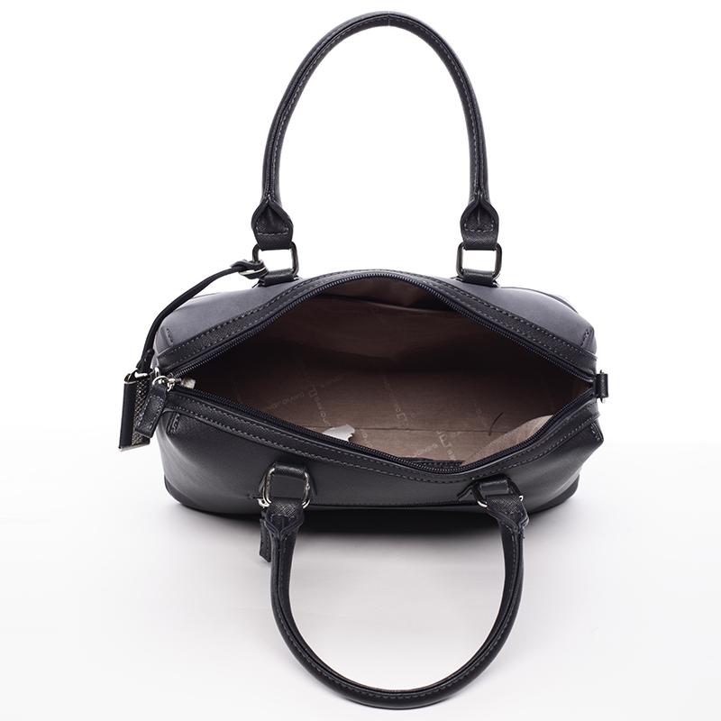 Designová kabelka do ruky i přes rameno David Jones Moira, tmavě modrá
