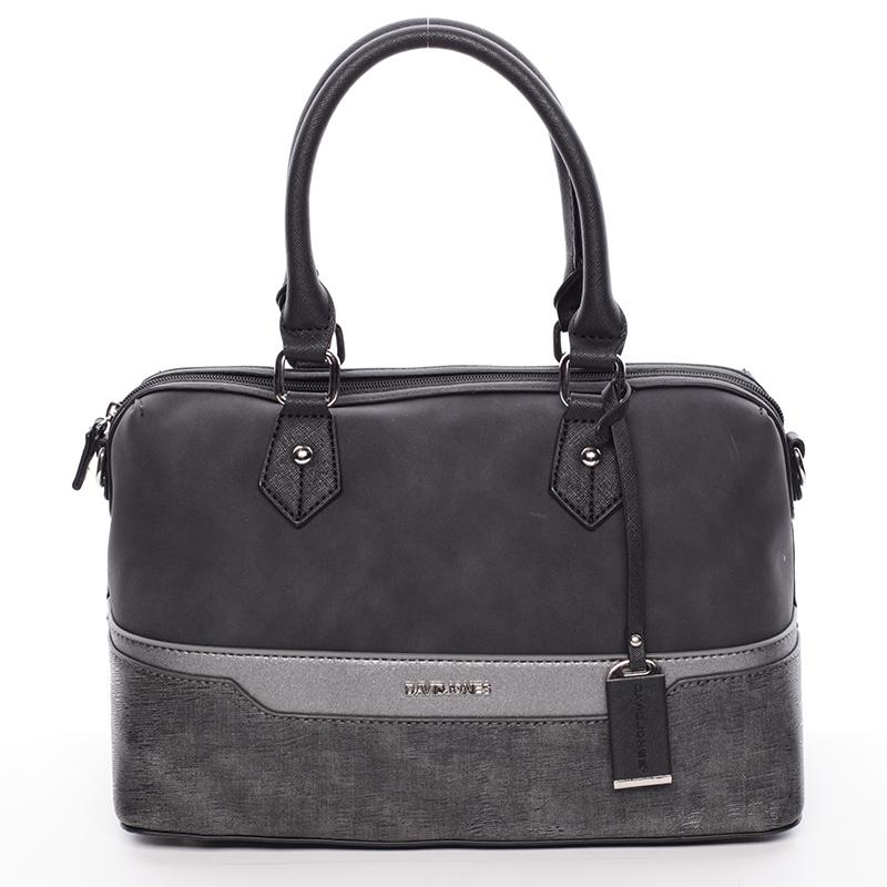 Designová kabelka do ruky i přes rameno David Jones Moira, černá