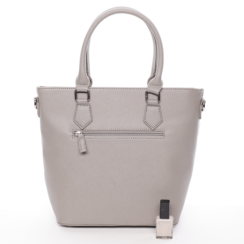 Trendy dámská kabelka do ruky David Jones Nadine, šedá