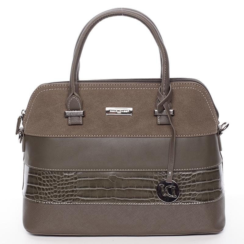 Designová dámská značková kabelka David Jones Catharina, khaki
