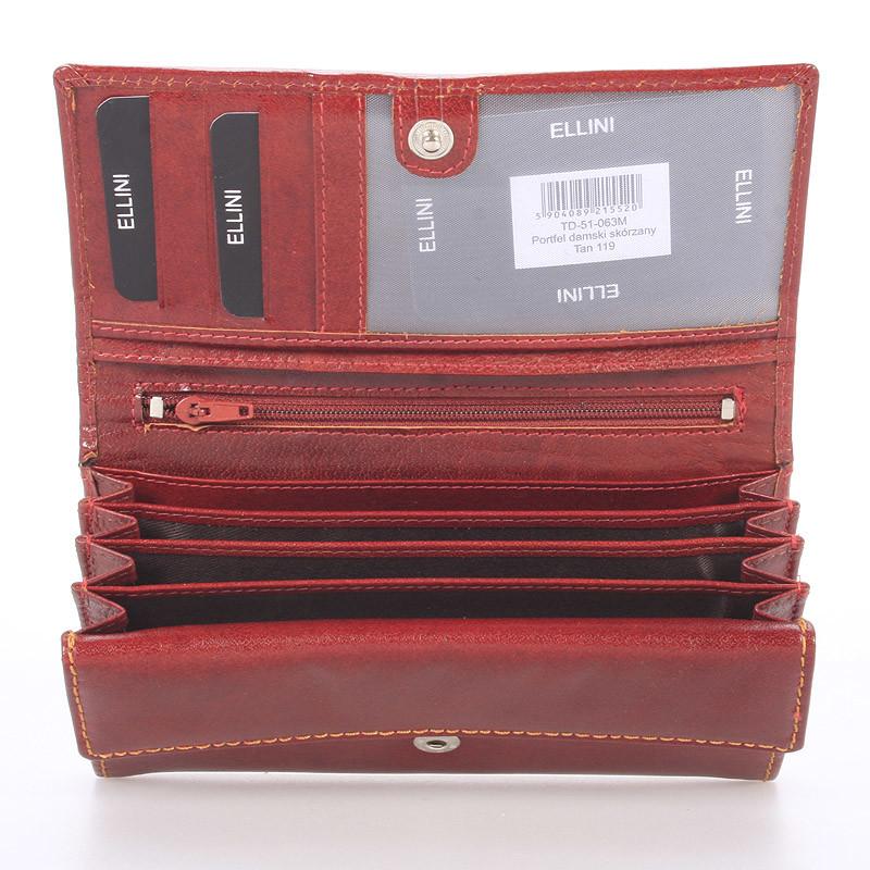 Dámská kožená hnědá peněženka Ellini NY
