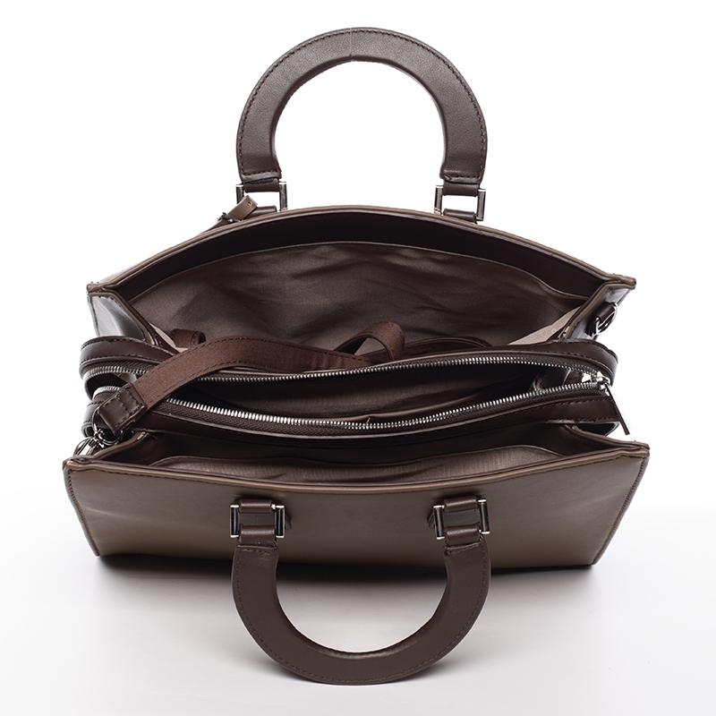 Elegantnní značková kabelka do ruky David Jones Saint Cloud, camel