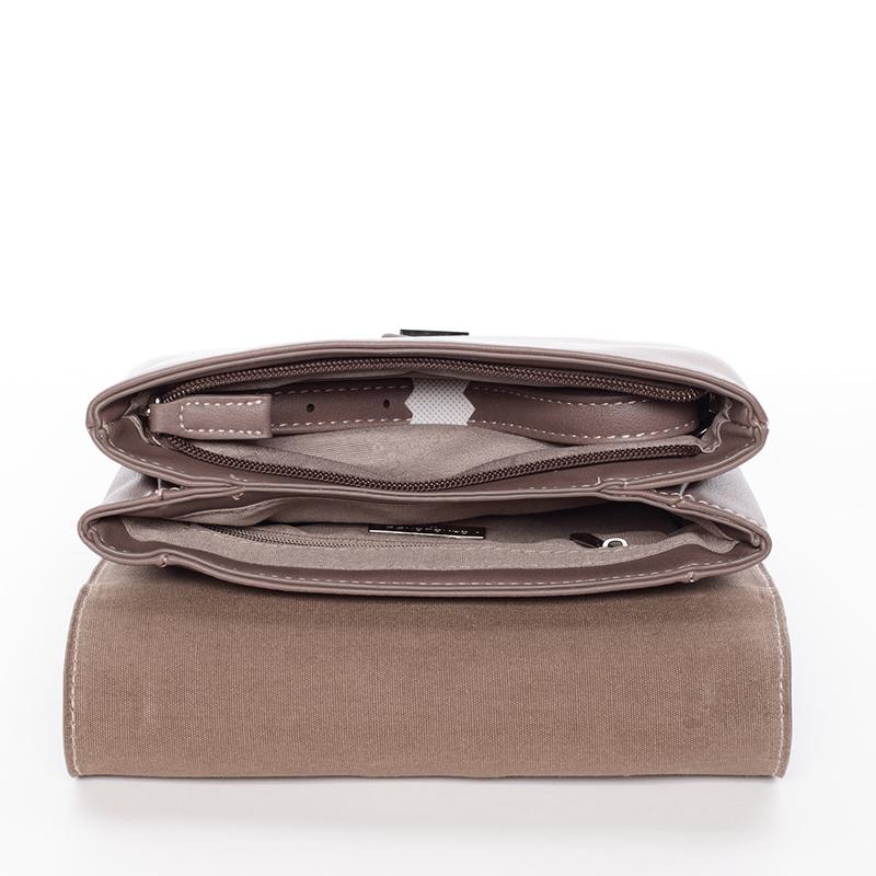 Designová crossbody taška David Jones Silver Ed, starorůžová