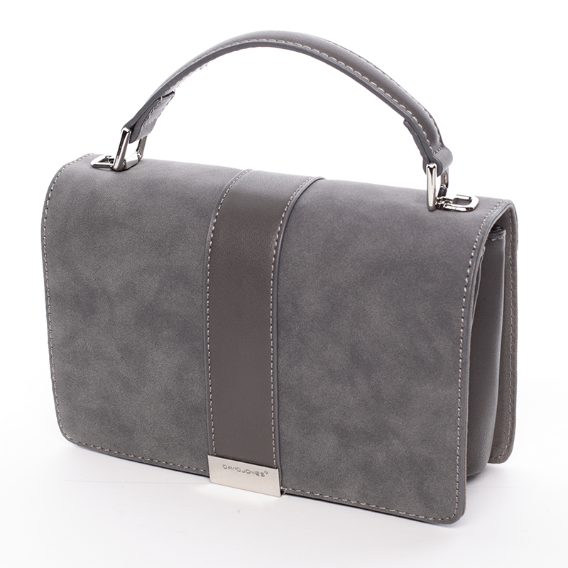 Designová crossbody taška David Jones Silver Ed, tmavě šedá