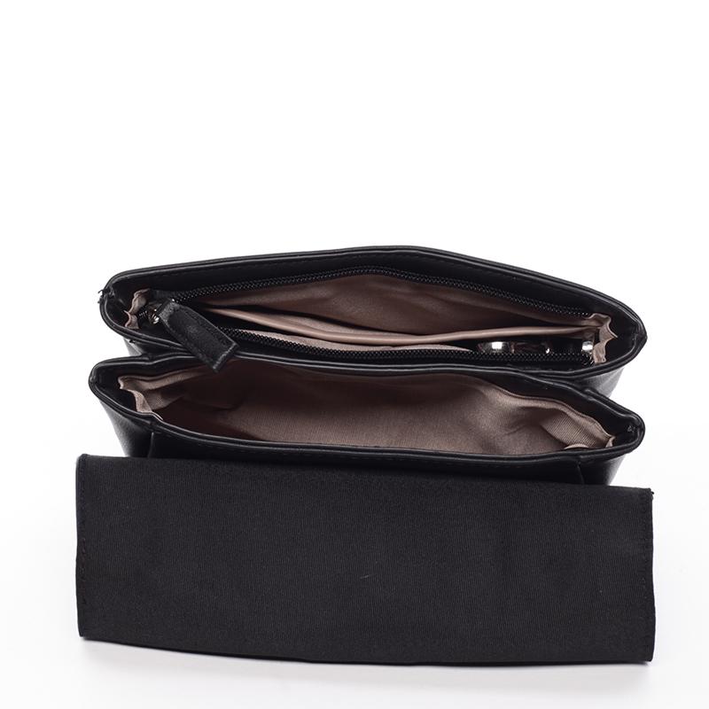Designová crossbody taška David Jones Silver Ed, černá
