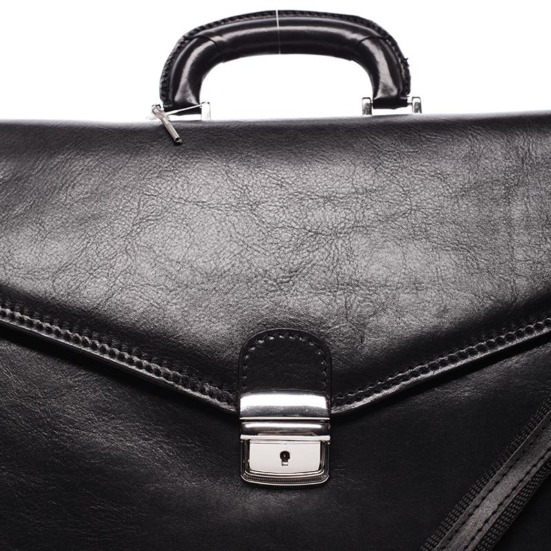 Pánská kožená aktovka Wilmer Exlusive, černá