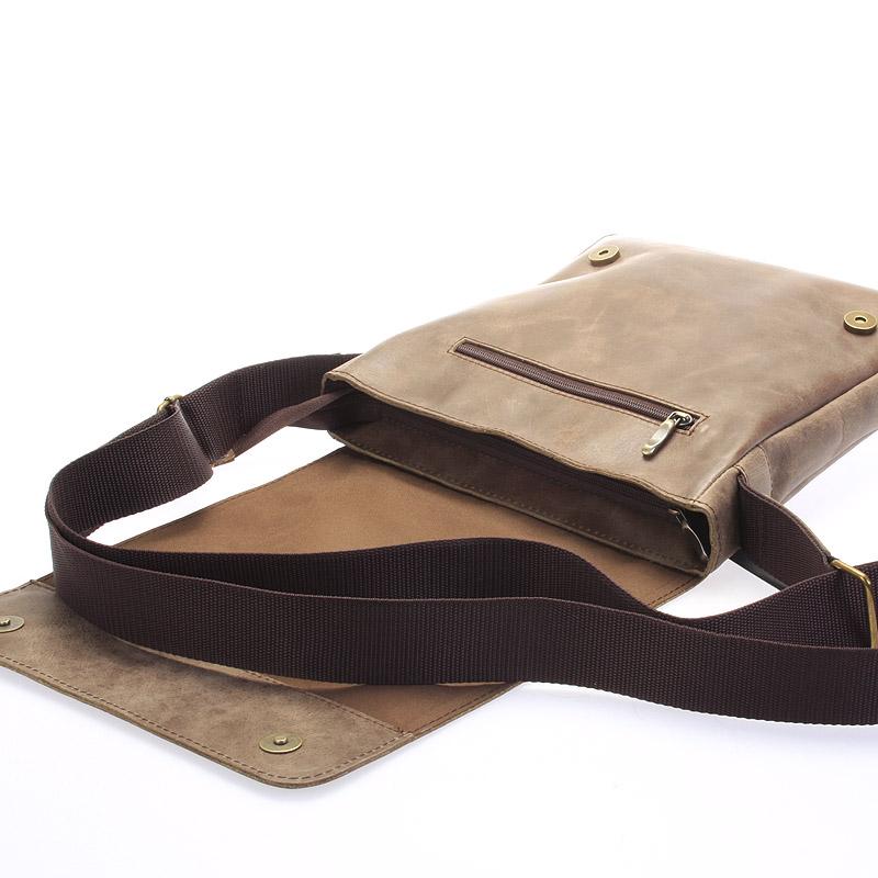 Pánská kožená taška přes rameno DELAMI Fragment, antická