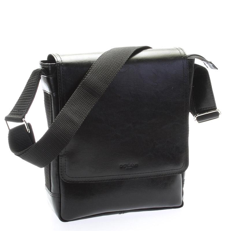 Pánská kožená taška přes rameno DELAMI Caesar, černá