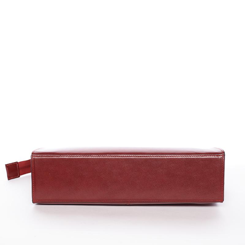 Dámská kožená kabelka PING C 226/8/6, bordo