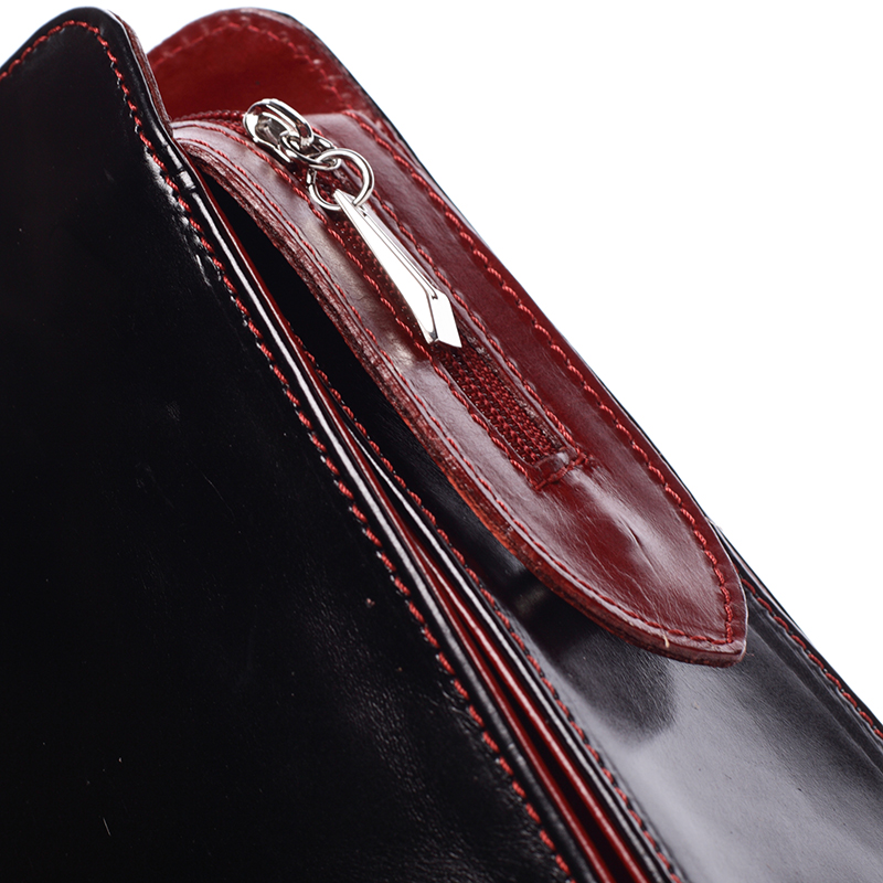 Dámská kožená kabelka Anna černo-červená