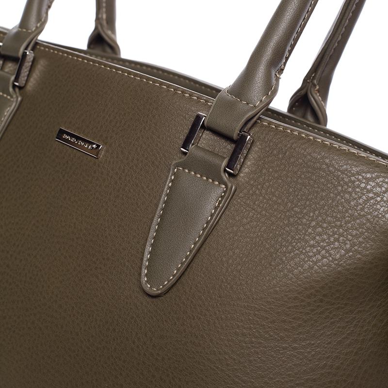 Luxusní dámská kabelka do ruky David Jones Pummel, khaki