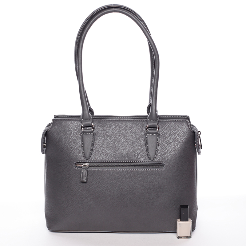 Luxusní dámská kabelka do ruky David Jones Pummel, šedá