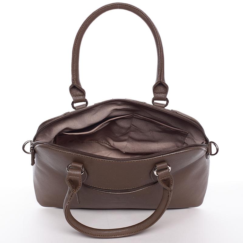 Designová kabelka do ruky s popruhem David Jones Tihana, taupe