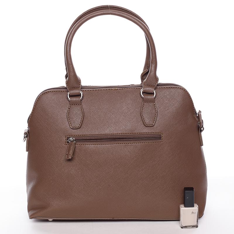 Designová kabelka do ruky s popruhem David Jones Tihana, camel