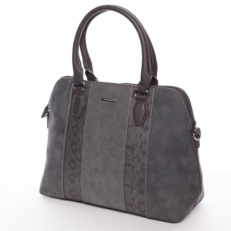 Designová kabelka do ruky s popruhem David Jones Tihana, šedá