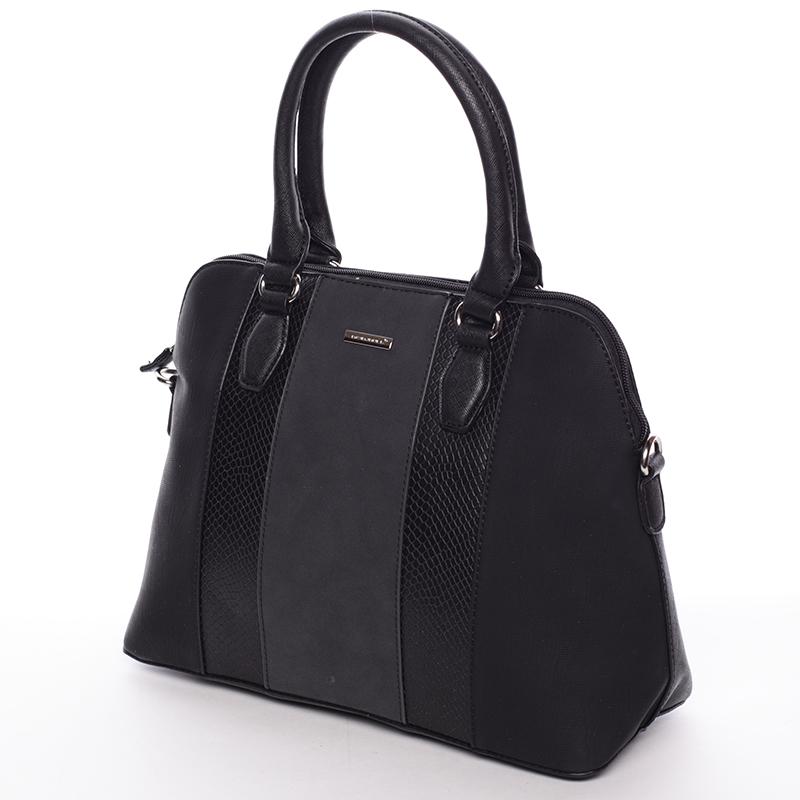 Designová kabelka do ruky s popruhem David Jones Tihana, černá