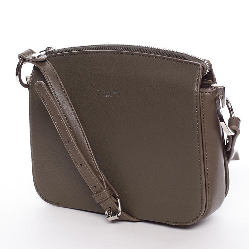 Designová dámská crossbody kabelka David Jones B4TIME, khaki