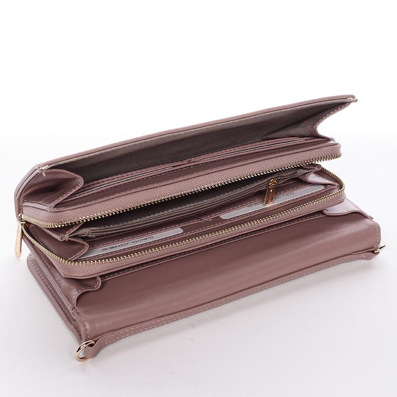 Dámská crossbody kabelka a peněženka Keira II, starorůžová