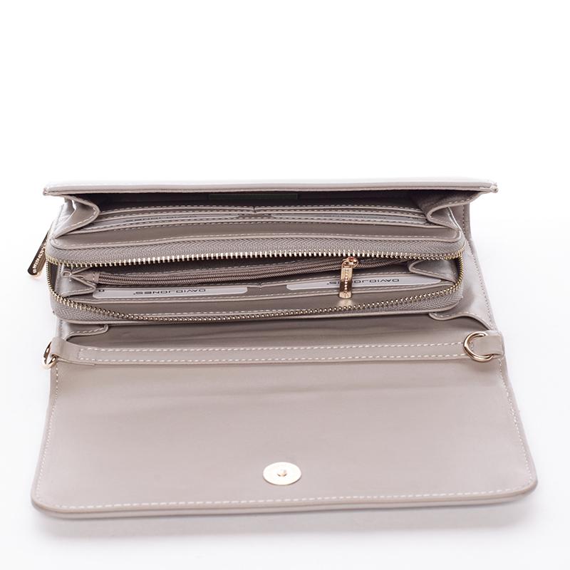 Dámská crossbody kabelka a peněženka Keira II, šedá