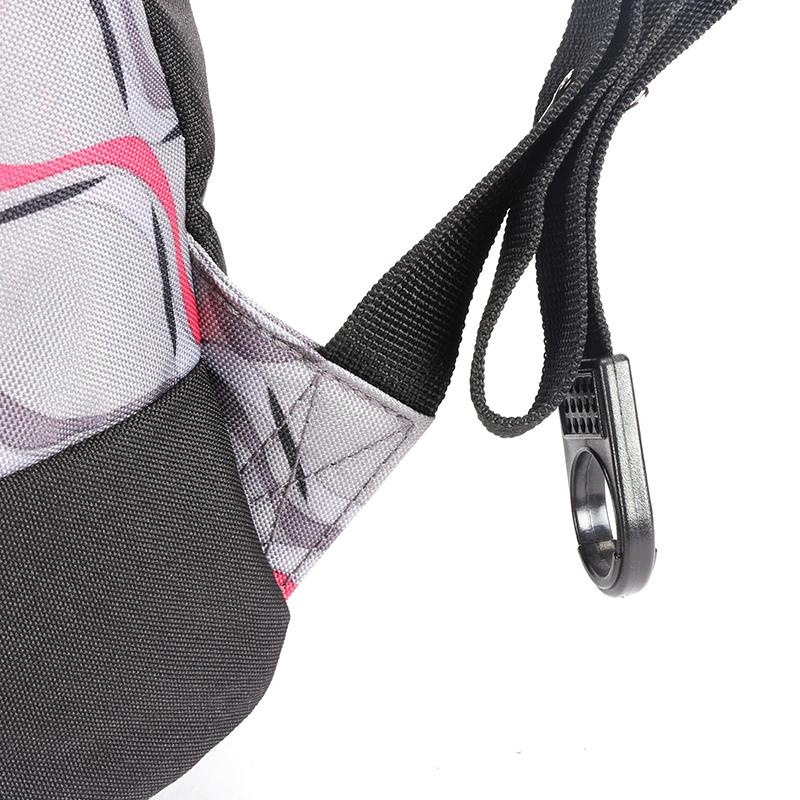 Školní batoh s cool potiskem, šedo-červený