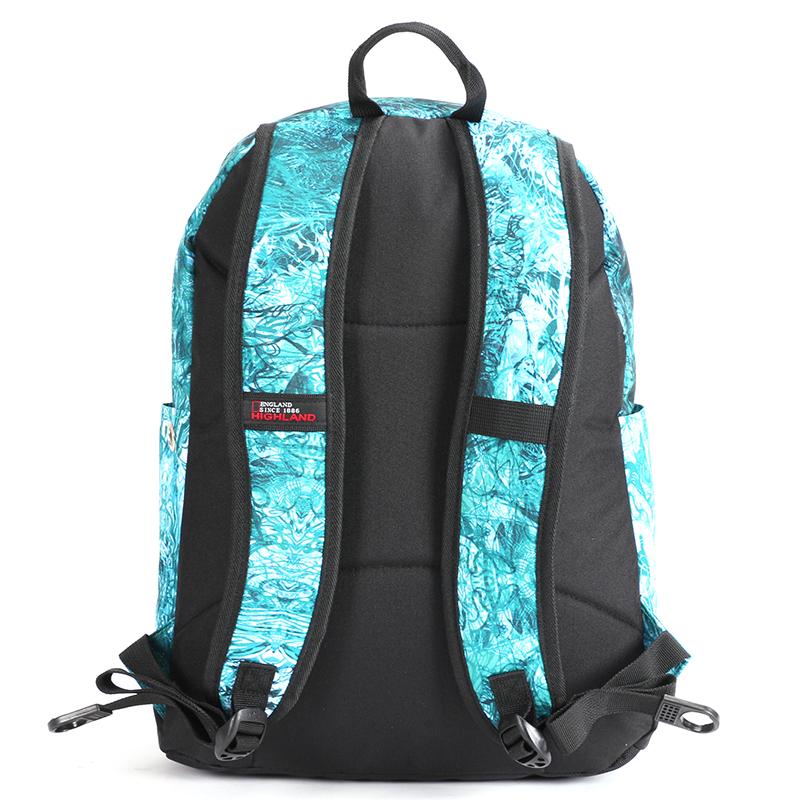 Školní batoh s cool potiskem, zelený