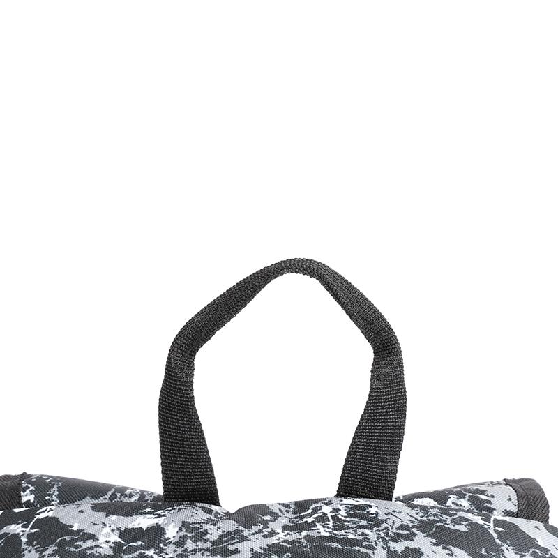 Školní batoh s cool potiskem, šedo-bílý