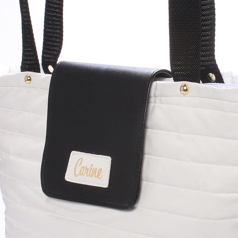 Dámská designová kabelka Carine Girl, bíločerná