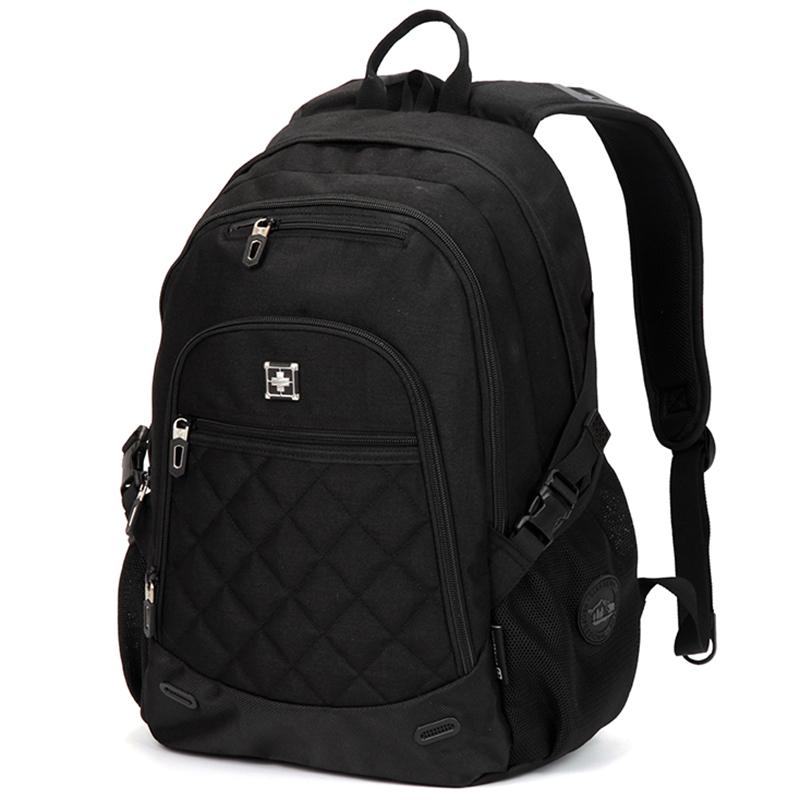 Pevný cestovní batoh Suissewin, černý