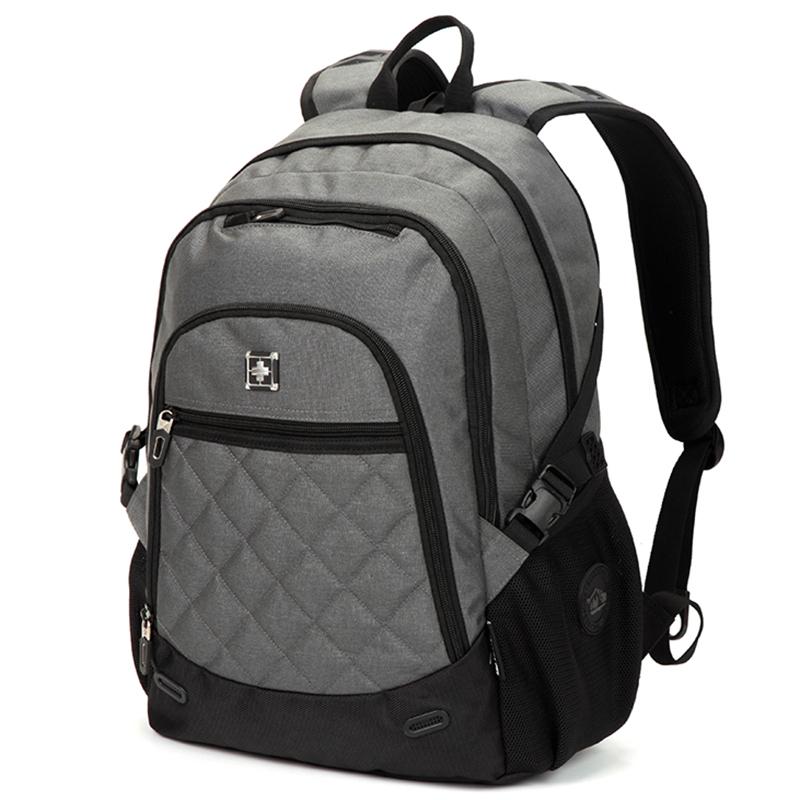 Pevný cestovní batoh Suissewin, šedý