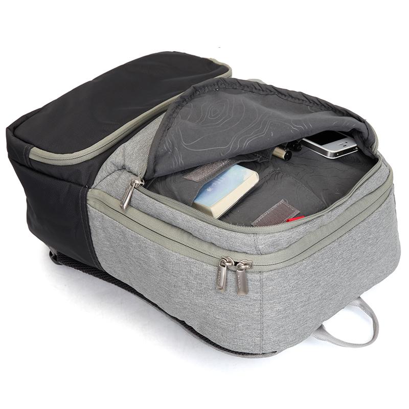 Studentský batoh, šedo-černý