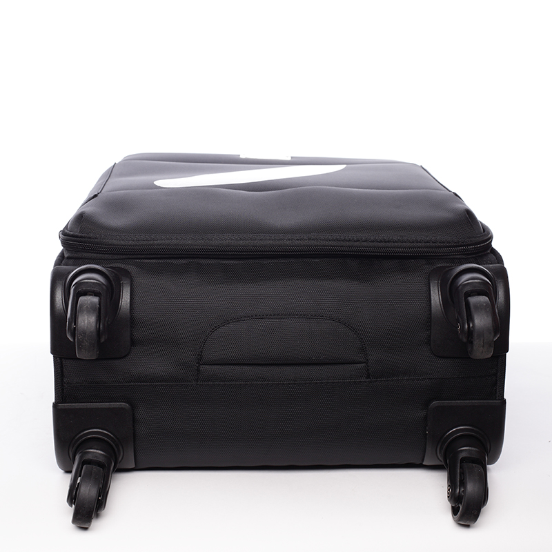 Odlehčený cestovní kufr Mahel, černý 4. kolečka, vel. II
