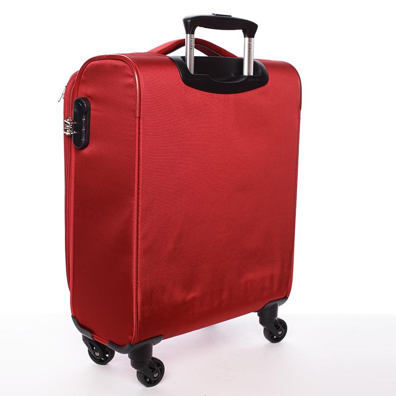 Odlehčený cestovní kufr Mahel, červený 4. kolečka, vel. II