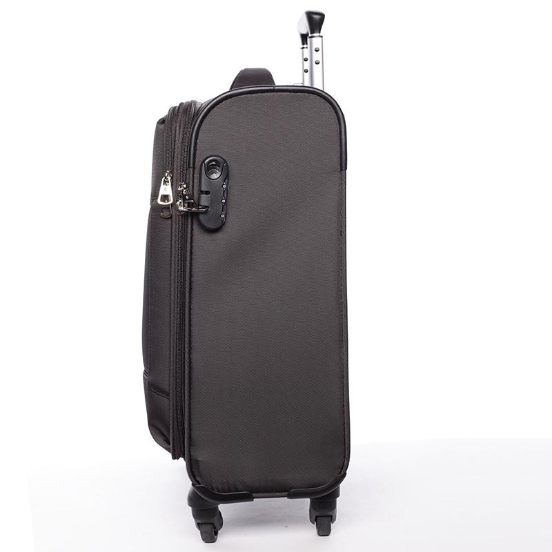Odlehčený cestovní kufr Mahel, hnědý 4. kolečka, vel. II