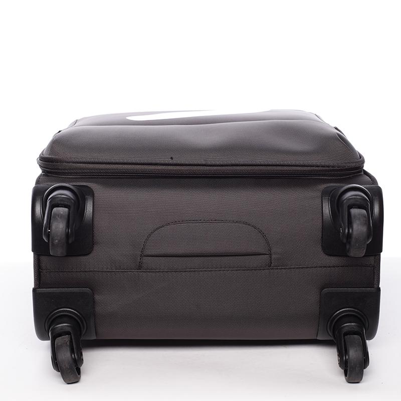 Odlehčený cestovní kufr Mahel, hnědý 4. kolečka, vel. III
