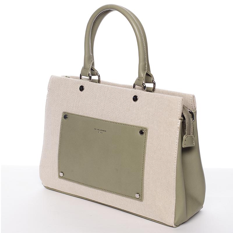 Dámská luxusní kabelka David Jones Iliana, khaki