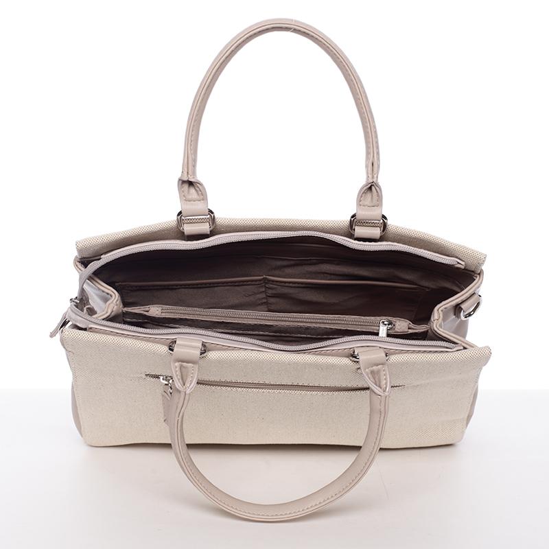 Dámská luxusní kabelka David Jones Iliana, béžová