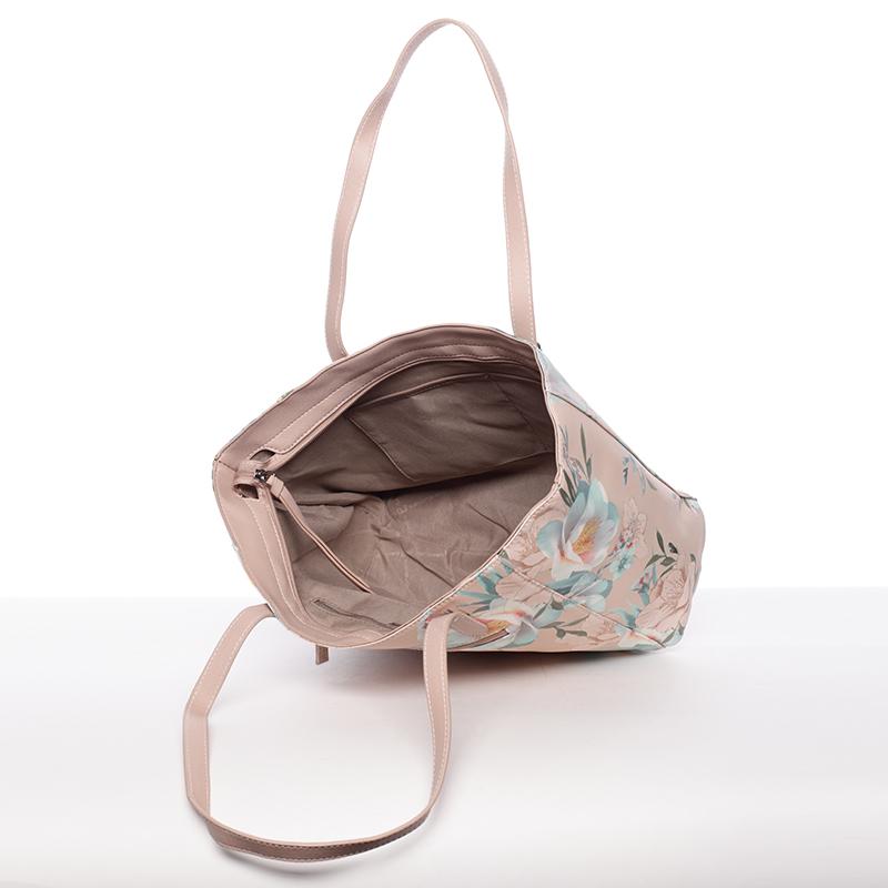 Dámská trendy kabelka David Jones Roxanne, růžová