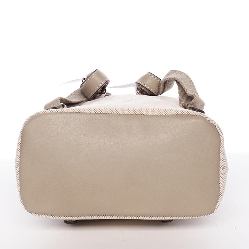 Dámský elegantní batůžek David Jones Raily, hnědo-béžový
