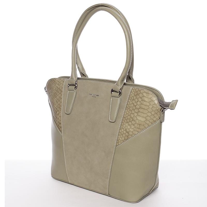Luxusní dámská kabelka David Jones Renata, khaki