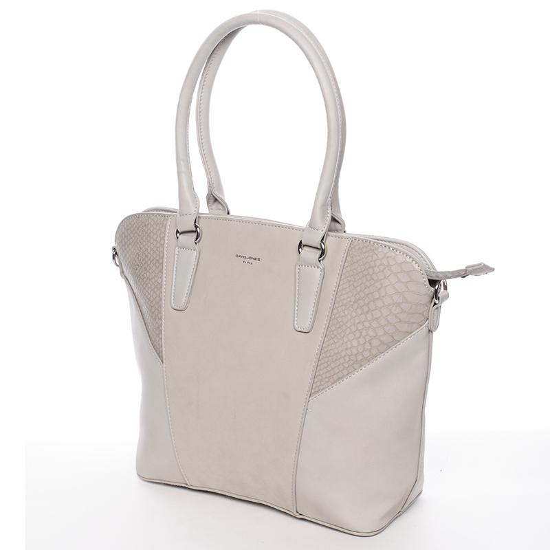 Luxusní dámská kabelka David Jones Renata, šedá