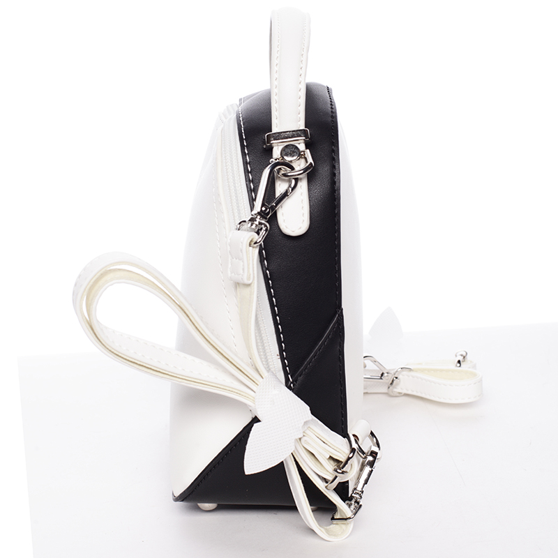 Malý designový batužek David Jones Patricia, bílo/černá