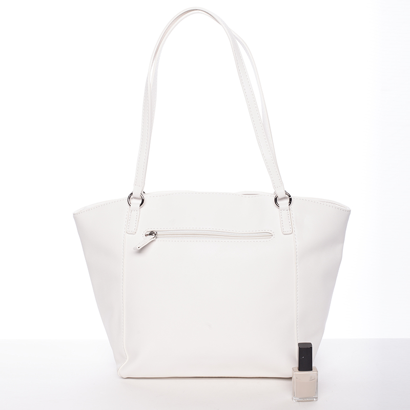Dámská stylová kabelka David Jones Mellie, bílá