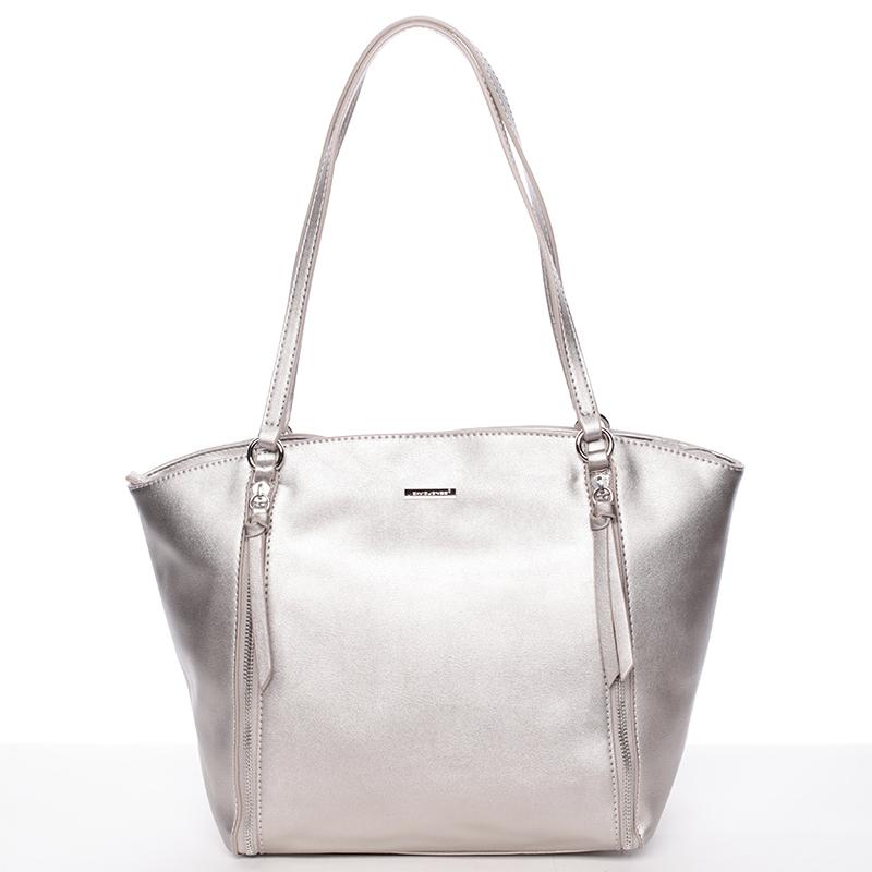 Dámská stylová kabelka David Jones Mellie, stříbrná