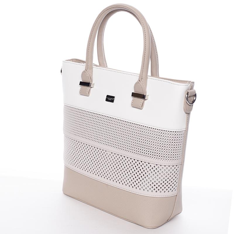 Elegantní kabelka David Jones Philipa, krémová